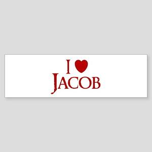I LOVE JACOB MY HEART BELONGS Bumper Sticker