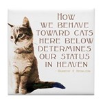 Cats and Heaven Tile Coaster