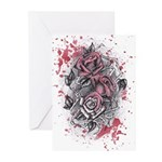 Painted Roses Greeting Cards (Pk of 20)