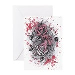 Painted Roses Greeting Card