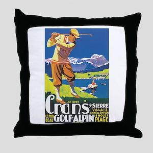 Sierre Switzerland Throw Pillow