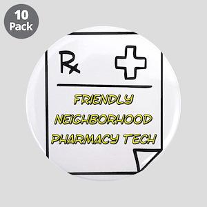 "Pharmacy Tech 3.5"" Button (10 pack)"
