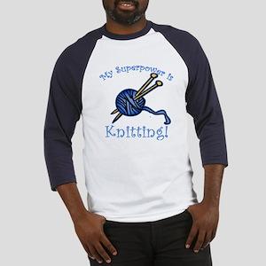 My Superpower is Knitting Baseball Jersey