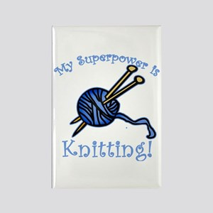 My Superpower is Knitting Rectangle Magnet