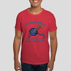 My Superpower is Knitting Dark T-Shirt