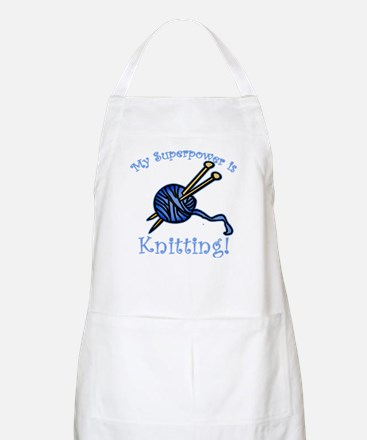 My Superpower is Knitting BBQ Apron