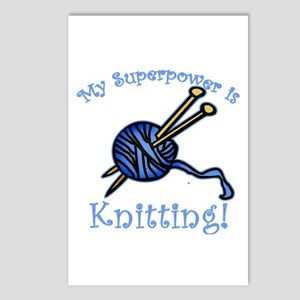 My Superpower is Knitting Postcards (Package of 8)