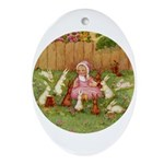 BYE BABY BUNTING Oval Ornament