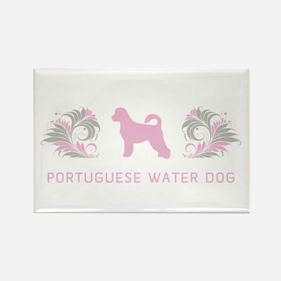"""""""Elegant"""" Portuguese Water Dog Rectangle Magnet"""
