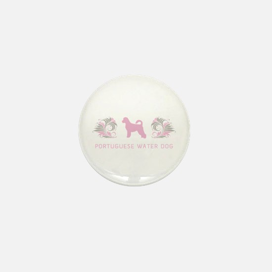 """Elegant"" Portuguese Water Dog Mini Button"