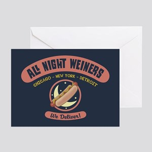 All Night Weiners Greeting Cards (Pk of 10)