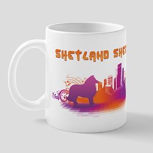 """""""City"""" Shetland Sheepdog Mug"""