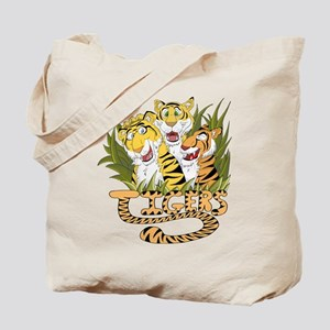 Toon Tiger Team Tote Bag