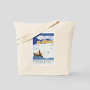 Vintage Austria Skiing Tote Bag