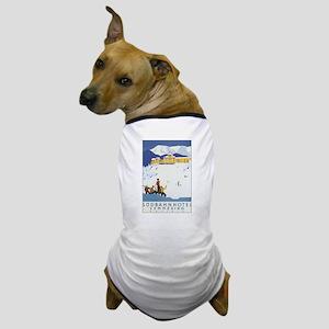 Vintage Austria Skiing Dog T-Shirt