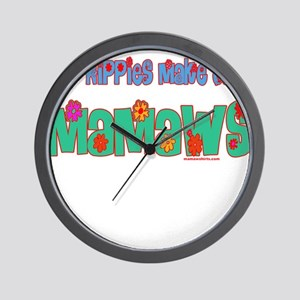 Old Hippie Mamaw Wall Clock