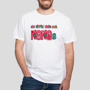 Old Hippie Nana White T-Shirt