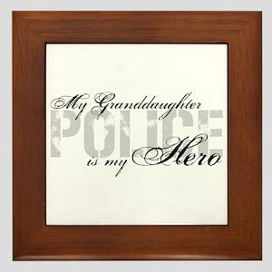 My Granddaughter is My Hero - POLICE Framed Tile