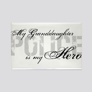My Granddaughter is My Hero - POLICE Rectangle Mag