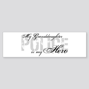 My Granddaughter is My Hero - POLICE Sticker (Bump