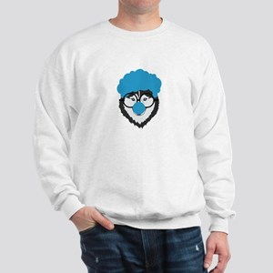 Alaskan Husky Dog Clown Face Halloween Sweatshirt
