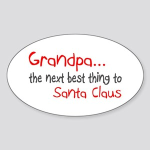 Grandpa, The Next Best Thing To Santa Claus Sticke