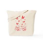 Butterfly w. Canadian Landscape Art Tote Bag