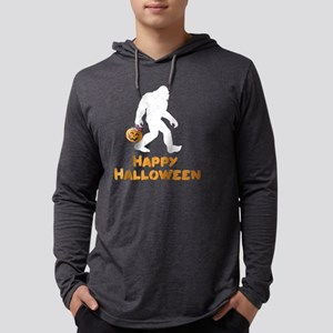 Bigfoot Trick or Treating Happ Long Sleeve T-Shirt