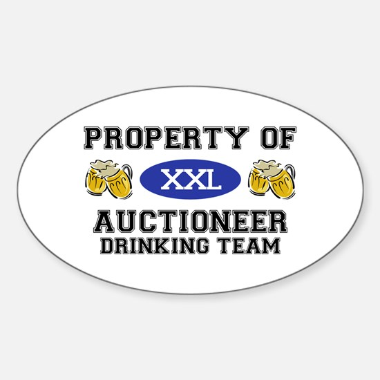 Property of Auctioneer Drinking Team Decal