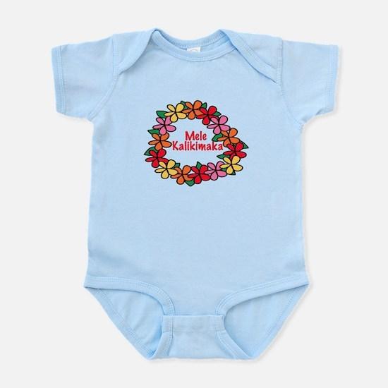 Hawaiian Christmas Lei Infant Bodysuit
