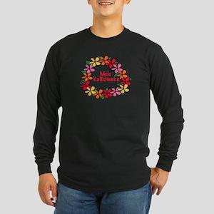 Hawaiian Christmas Lei Long Sleeve Dark T-Shirt