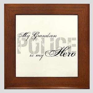 My Grandson is My Hero - POLICE Framed Tile