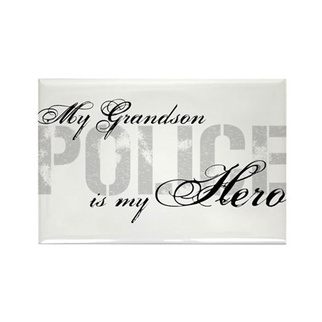 My Grandson is My Hero - POLICE Rectangle Magnet