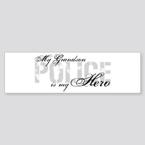 My Grandson is My Hero - POLICE Bumper Sticker