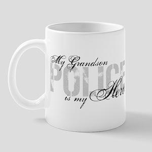 My Grandson is My Hero - POLICE Mug