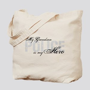 My Grandson is My Hero - POLICE Tote Bag