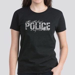 My Husband is My Hero - POLICE Women's Dark T-Shir