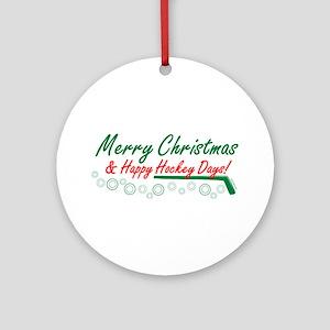 Christmas hockey days Ornament (Round)