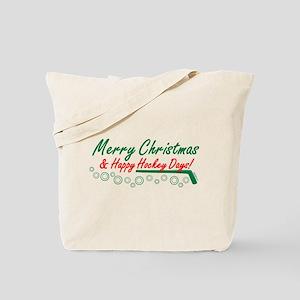 Christmas hockey days Tote Bag