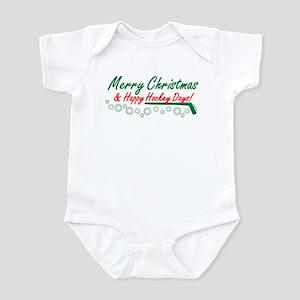 Christmas hockey days Infant Bodysuit