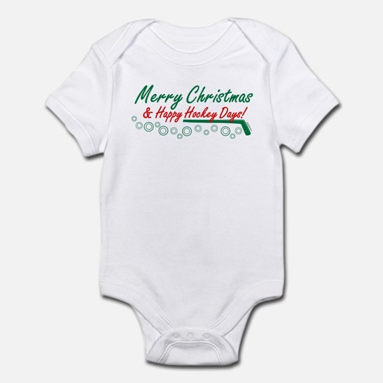 Christmas hockey days Infant Bodysuit