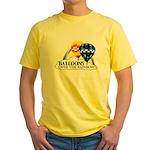 Balloons Over The Rainbow Yellow T-Shirt