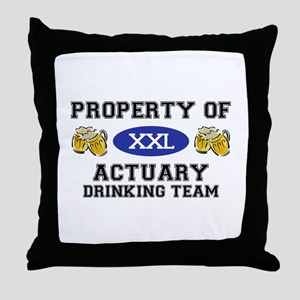 Property of Actuary Drinking Team Throw Pillow