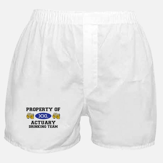 Property of Actuary Drinking Team Boxer Shorts