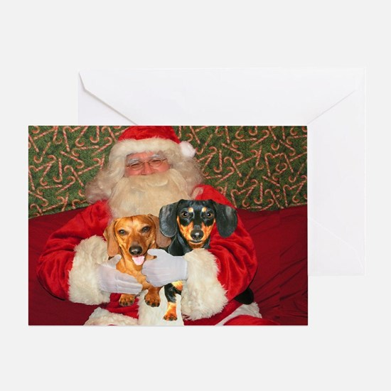 Kids With Santa Greeting Card
