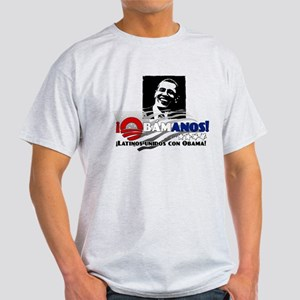 Latinos Unidos con Obama Light T-Shirt
