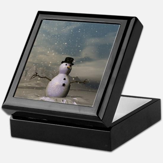 Snow man 1 Keepsake Box