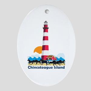 Chincoteague Island VA Oval Ornament