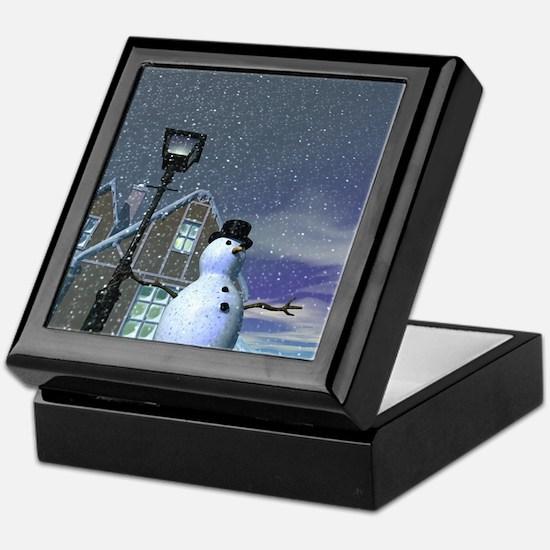 Snow man 3 Keepsake Box
