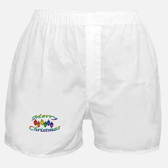 merry christmas balls Boxer Shorts